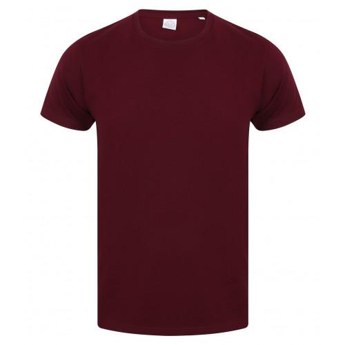 Skinnifit Men Feel Good Stretch T-Shirt Burgundy