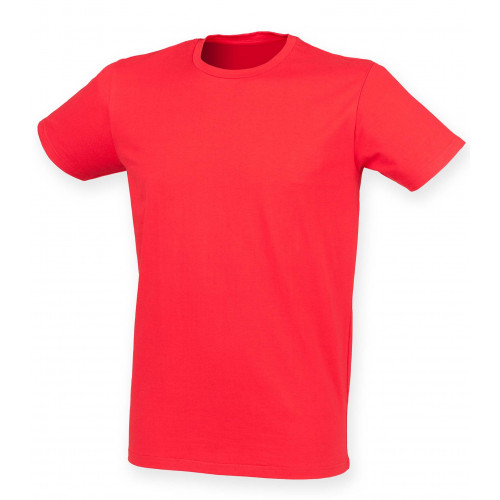 Skinnifit Men Feel Good Stretch T-Shirt BrightRed