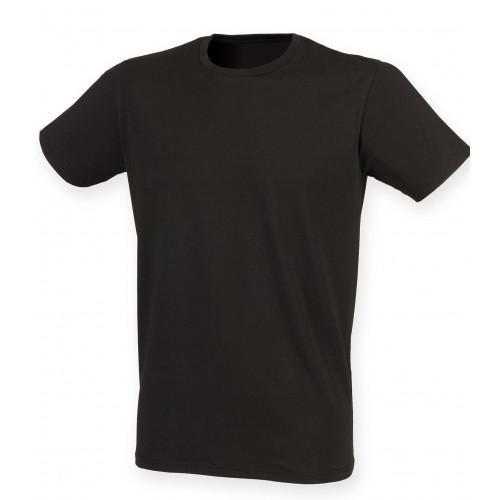 Skinnifit Men Feel Good Stretch T-Shirt Black