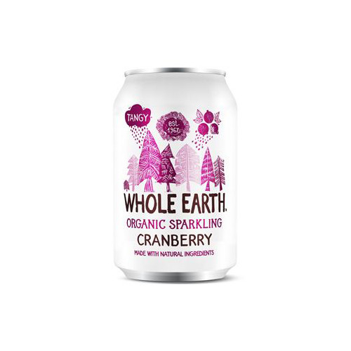Whole Earth Sparkling Organic Cranberry 33cl EKO