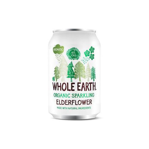 Whole Earth Sparkling Organic Elderflower 33cl EKO