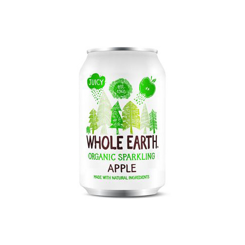 Whole Earth Sparkling Organic Apple 33cl EKO