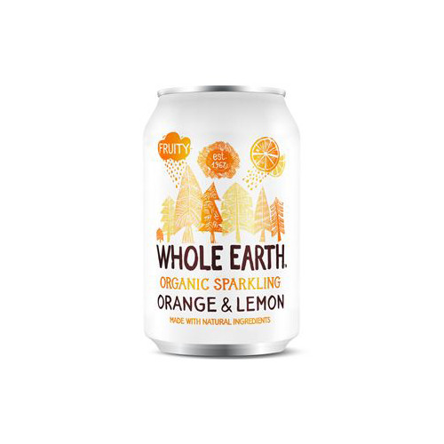 Whole Earth Sparkling Organic Orange & Lemon 33cl EKO