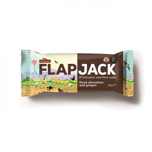 Wholebaker Flapjack Dark Chocolate & Ginger 80g