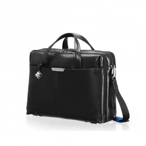 SAMSONITE S-OULITE Skinnväska 16tum Svart Briefcase Medium