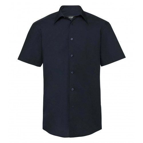 Russell Men´s SS Polycotton Easy Care Tailored Poplin Shir French Navy