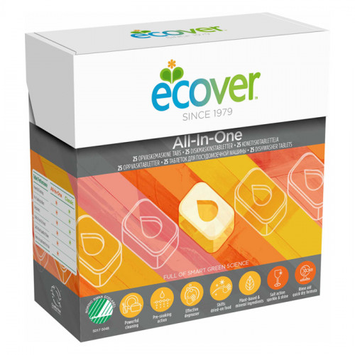 Ecover Ecover Maskindiskmedel All-In-One 25 st