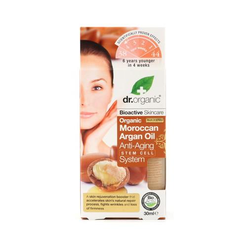 Dr Organic Moroccan Argan Oil Anti-Aging Stem Cell System 30ml