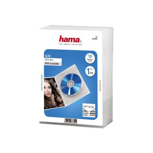 HAMA DVD-Box Slim Transparent 10-pack