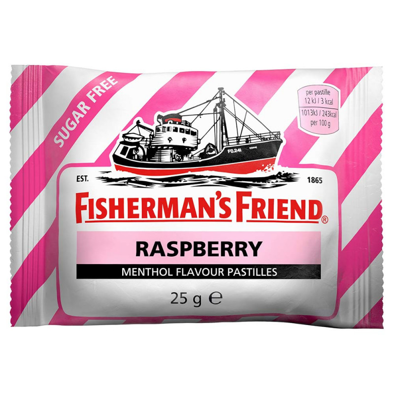 FISHERMAN'S FRIEND Fisherman's Rasberry sockerfri 25 g