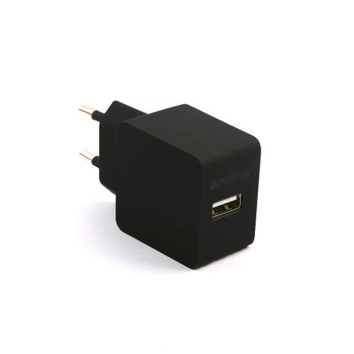 Champion Ladd&Synk 12W 2,4A USB Laddare
