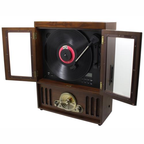 Soundmaster Vägghängd skivspelare i trä. K