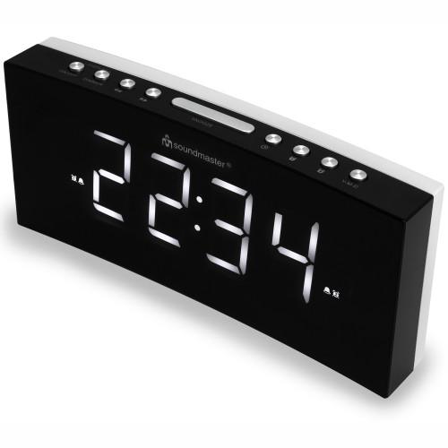 Soundmaster Jumbo LED-Klocka med alarm och