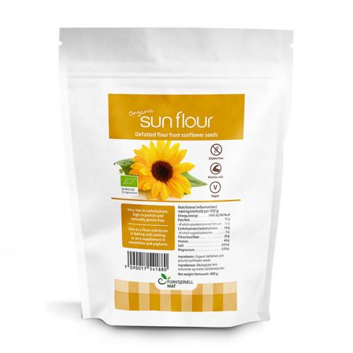 Funksjonell Mat Ekologiskt Solrosmjöl fettreducerat 400 gram