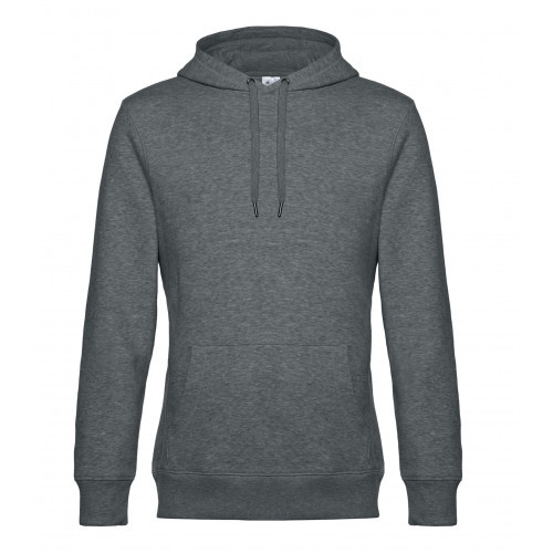 B and C Collection B&C KING Hooded HeatherMidGrey