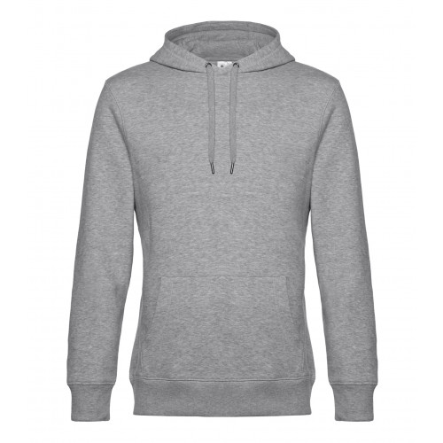 B and C Collection B&C KING Hooded Heather Grey