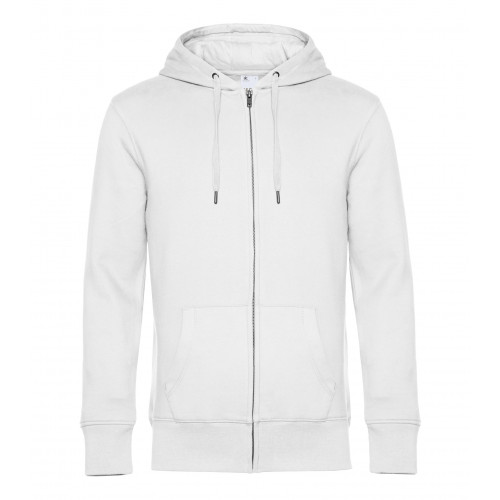 B and C Collection B&C KING Zipped Hood White