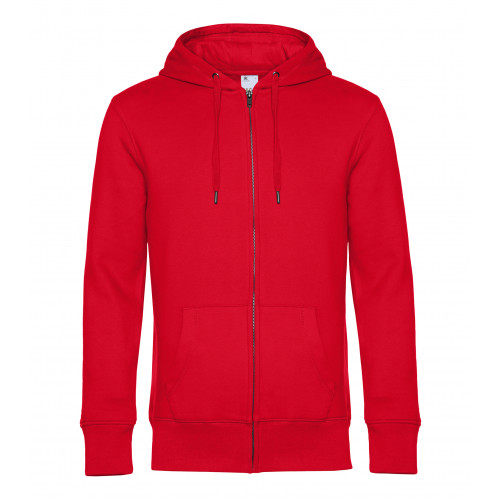 B and C Collection B&C KING Zipped Hood Red