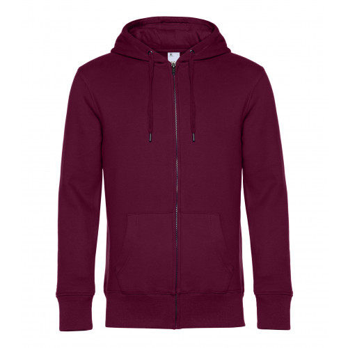 B and C Collection B&C KING Zipped Hood DarkCherry