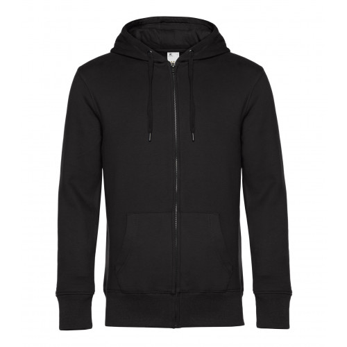 B and C Collection B&C KING Zipped Hood BlackPure