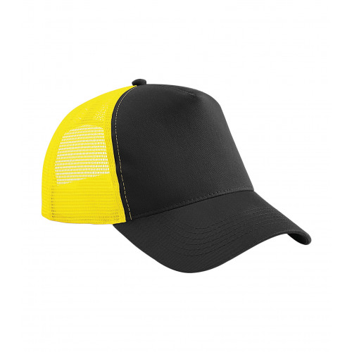 Beechfield Snapback Trucker Black/Yellow