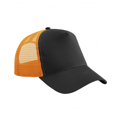 Beechfield Snapback Trucker Black/Orange