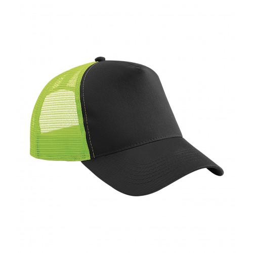 Beechfield Snapback Trucker Black/LimeGreen