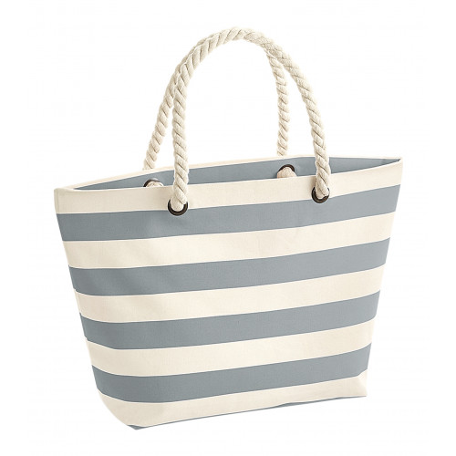 Westford Mill Nautical Beach Bag Natural/Grey