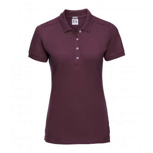 Russell Ladies´ Stretch Polo Burgundy