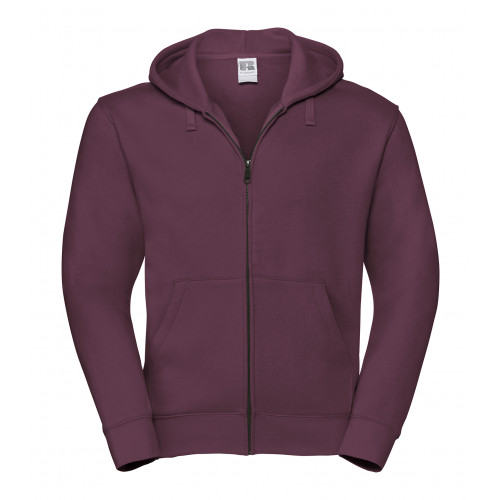 Russell Men´s Authentic Zipped Hood Burgundy