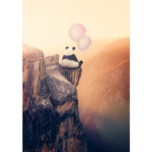 Poster Panda & the balloons
