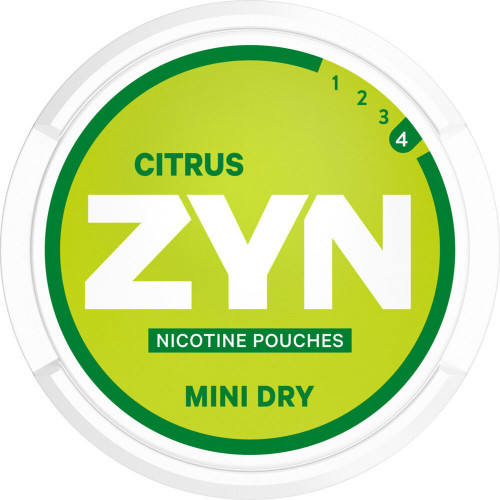 ZYN Mini Dry Citrus Extra Strong 5-pack