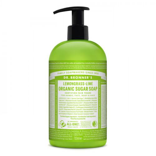 Dr. Bronner's Magic Soaps Lemongrass-Lime Organic Sugar Soap 710 ml