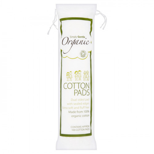 Simply Gentle Organic Cotton Pads 100 pads