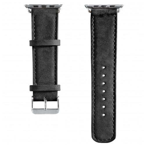 HAMA Klockarmband Apple Watch Svart Velour, 38mm