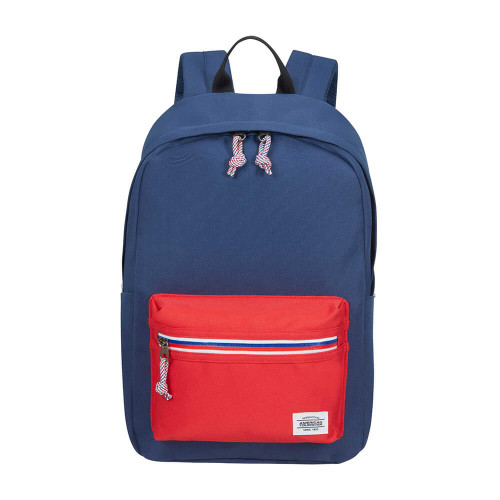 AT AMERICAN TOURISTER Ryggsäck UPBEAT ZIP-Pocket NAVY/RED