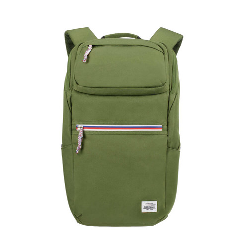 "AT AMERICAN TOURISTER Ryggsäck UPBEAT 15.6"" Datafack ZIP-Pocket OLIVE"