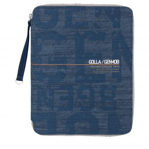 GOLLA Zip Folder PUNSCH blå cut for iPad