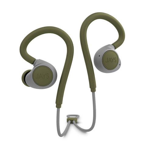 JAYS Hörlur m-Six Trådlös In-Ear Earhook Moss/Grön