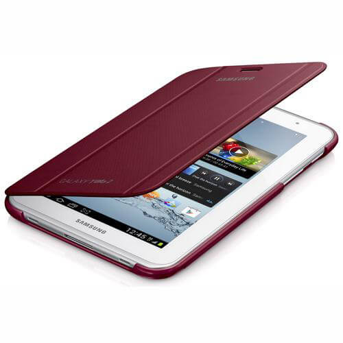 SAMSUNG Tab2 7.0 Book-Cover Röd EFC-1G5SRECSTD
