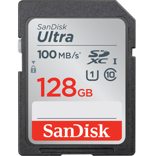 SANDISK Minneskort SDXC Ultra 128GB 100MB/s UHS-I Class 10