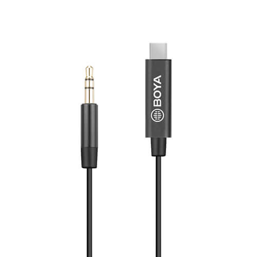 BOYA Adapter 3.5mm TRS - USB C BY-K2 TRS - Hane - Hane