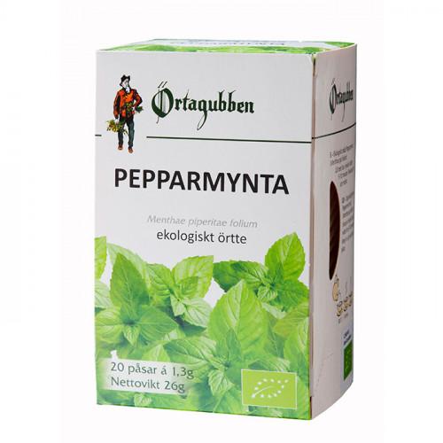 Örtagubben Pepparmynta blad Te-påsar 20 x 1,3 gr