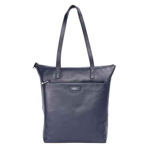"GOLLA Tote Bag Capella 13-15"" Navy Läder"