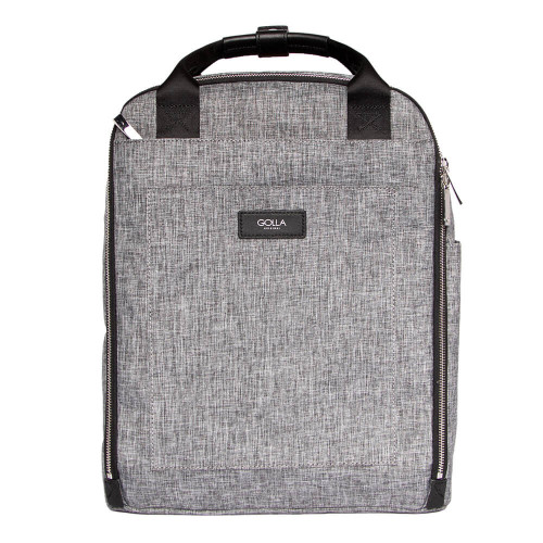"GOLLA Ryggsäck Orion L 15,6"" Grey & Black Recycled Polyester"