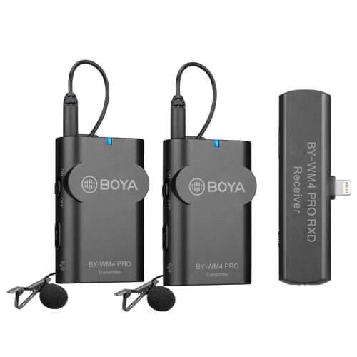 BOYA Mikrofon Lavalier x2 Trådlös BY-WM4 Pro K4 Lightning