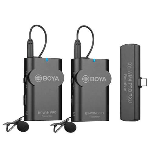 BOYA Mikrofon Lavalier x2 Trådlös BY-WM4 Pro K6 USB-C