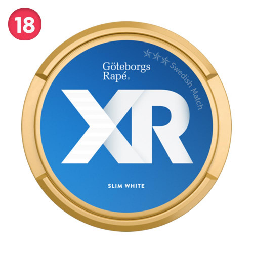 Göteborgs Rapé XR Slim White Portion 10-pack