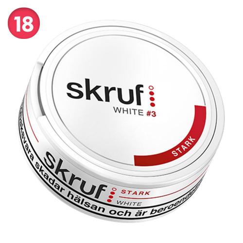 Skruf Stark White Portionssnus 10-pack
