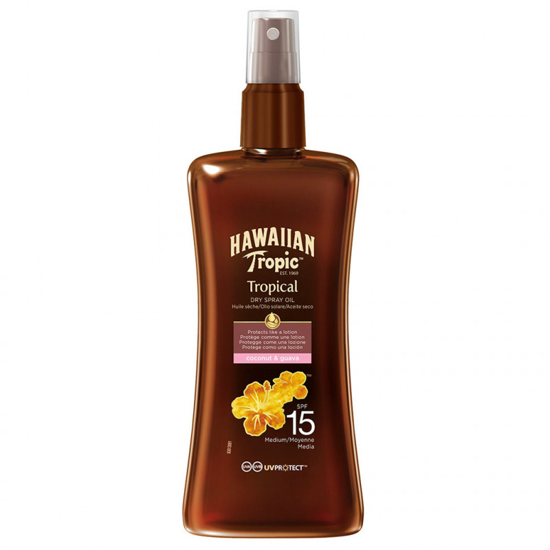Hawaiian Tropic Protective Dry Spray Oil Spf15 200 ml
